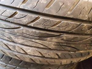2 pneus d'été, Yokohama, Avid envigor, 225/65/17, 40% d'usure, mesure 7-6/32.