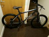 Carrera Vengeance mountain bike with 27.5 inch wheel and 20 inch frame size