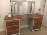 Modern Hand Painted Pine Dressing Table
