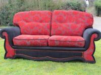 A Beautiful Red/Black Cool Sofa