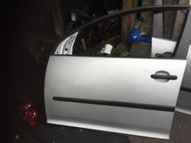 05 VW GOLF MK5 SILVER DOOR ONLY SHELL EACH £40 POUNDS