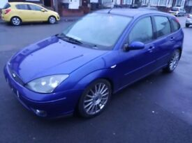 FORD FOCUS ST, 2004, IMPERIAL BLUE, LONG MOT, DRIVES PERFECT, NEW CLUTCH, ALLOYS, NEW BATTERY+TYRES