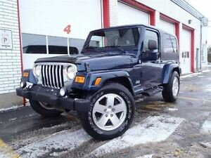 2005 Jeep TJ Unlimited, extended, 2 Toits, A/C, full garantie!