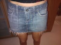 Topshop Denim Skirt size 10