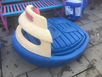 RARE! Step 2 Rigid paddling / sand pit boat pool with Lid Little Tikes Rocker Seasaw 3 kids