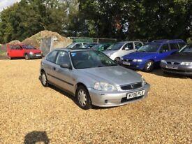 2000 Honda Civic 1.4 Auto 8 Months MOT Cheap Car