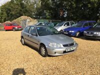 2000 Honda Civic 1.4 Auto 8 Months MOT Cheap Car