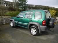 2004 JEEP CHEROKEE CRD DIESEL IN GREAT CONDITION AND MOT THRU TO JULY 2019