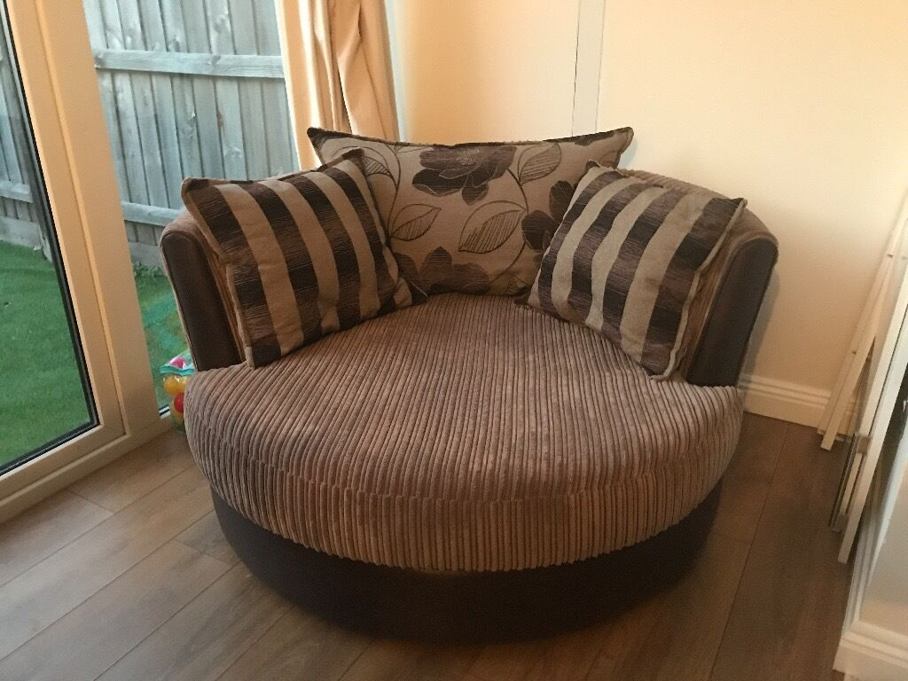 Dfs Brown Fabric Cuddle Chair In New Milton Hampshire