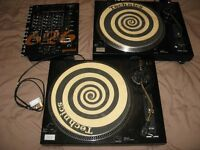 DJ decks & mixer - SoundLab DL-P3R decks (like Technics), Stanton 500 cartridge, Gemini PS-626 mixer