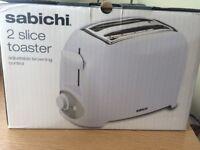 Brand new Sabichi 2 slice toaster for sale!