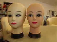 Female Heads - perfect for hair accessories, hats, fascinators, wigs, etc - £3 each