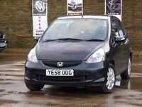 2008 HONDA JAZZ SE DSI 1.4 PETROL 5 DOOR BLACK LOW MILEAGE 12 MONTHS MOT LADY OWNER
