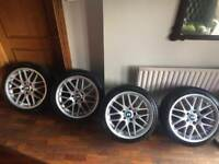 BMW 18 Inch CSL Style Alloys Silver 5x120 Tyres