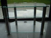 Glass TV stand in excellent condition