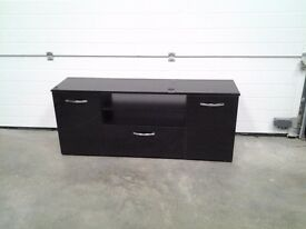 Ex display black gloss low sideboard / tv unit. Less half shop sale price, can deliver.