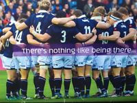 6 Nations Scotland V Wales Murrayfield Sat 25 Feb 2017 4 x Silver Tickets