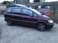 Vauxhall zafira 1.6 . 7 seater