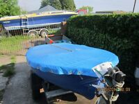Dinghy (8Ft) with Johnson 6hp Outboard & Trailer