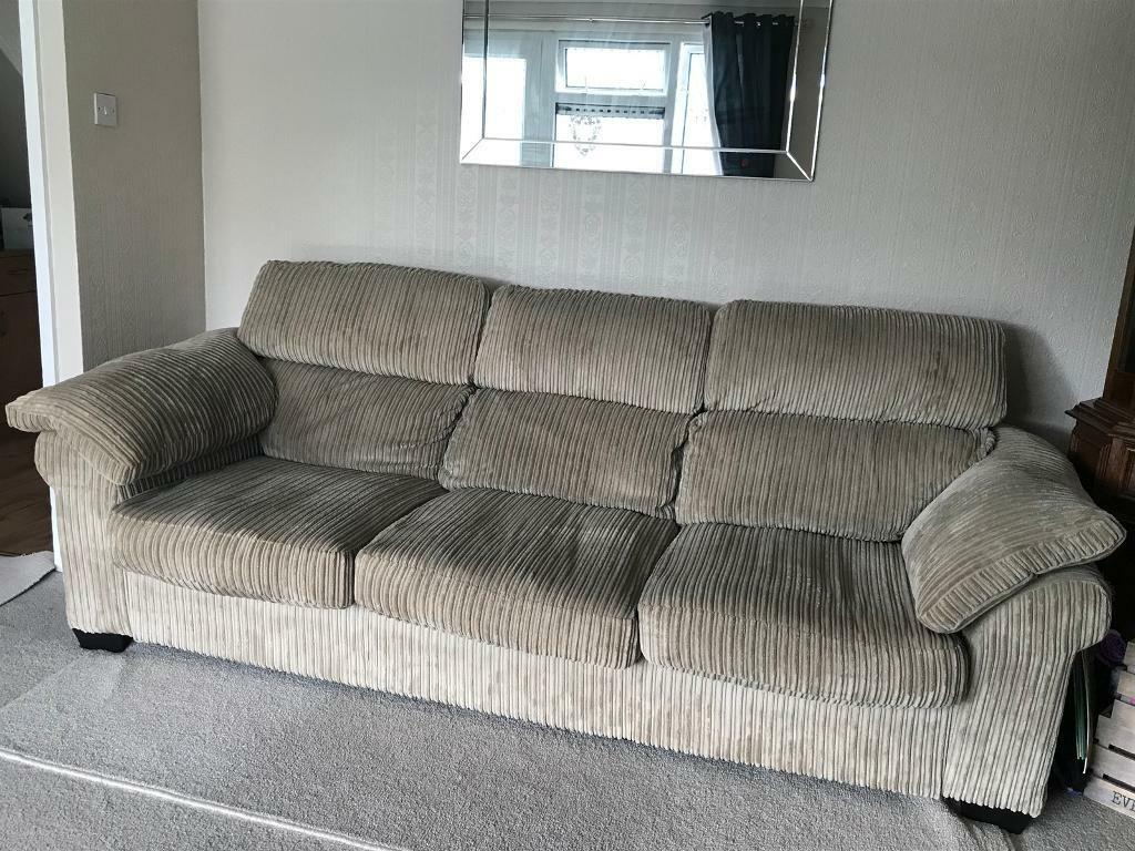 mushroom 3 seater sofa perfect condition in guildford surrey gumtree. Black Bedroom Furniture Sets. Home Design Ideas