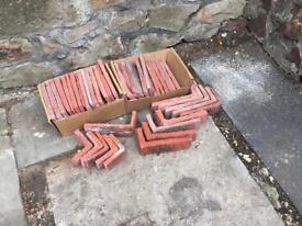 Brick slip wall tiles for kitchen or bathroom