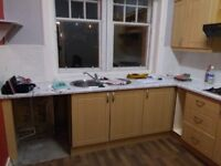 Fitted Kitchen Requiring Careful Removal for Reuse - Gas Hob and Sink in Great Condition