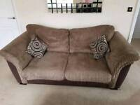 3 piece suite Inc sofa/settee cuddle chair and foot stool