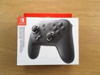NEW Official Nintendo Switch Pro Controller Gamepad Black - Brand New and Sealed