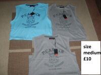 piere cardin medium sleeveless tops- new £10 the lot no offers collection from didcot