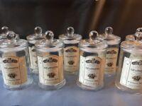 9 Glass storage Jars - Brand new