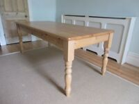 6ft Cotswold Company pine dining table - seats 6/8