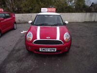 2007 MINI ONE SALT , LOW MILES,GREAT DRIVER,MOT TILL SEPTEMBER 2018, WARRANTY, PX WELCOME.