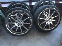 Mercedes or Audi Staggered Wheels