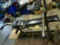 Weight lifting bench, Weights + bars (Reduced)
