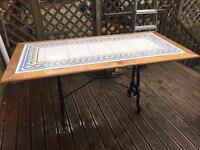 Tiled Table Top and Base