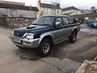 BREAKING Mitsubishi L200 2.5TD 2002 Good Engine & Gearbox Chunky Tyres Alloys