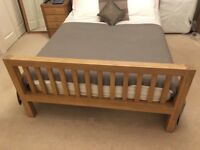 Barker and Stonehouse oak double bed frame (can include tempur mattress)