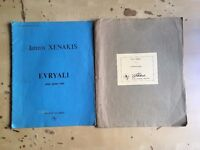 Iannis Xenakis - 20th Century Piano Scores - Evryali / a r. (hommage a Maurice Ravel)
