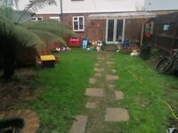 3 double bed house with garden