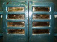 2x Courtier No.8R vintage enamel stove heaters