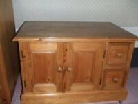 Solid Pine Compact Cabinet