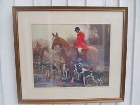 A J Munnings The Huntsman and Hounds Framed Print