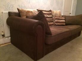 SCS 3 seater scatterback sofa and twister chair