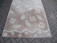 NEXT brown/cream rug 120cmx182cm