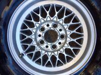 "Original BBS bmw e20 15"" alloy wheels oldschool retro"