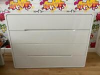 Chest of Drawers White High Gloss
