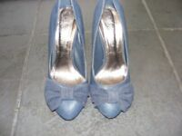 Navy Blue Stiletto Heel Shoes Size 3 Only Worn Twice