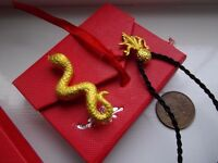 TWO New pure 24ct gold pendants snake + octopus Hallmarked, pendant jewellery SWINDON