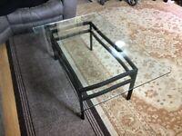 John Lewis glass top table