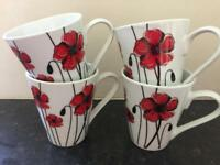 Set of 4 matching cups